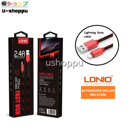 LDNIO LS23 High Speed 2.4A Fast Charging for Android or iOS Data Nylon Cable