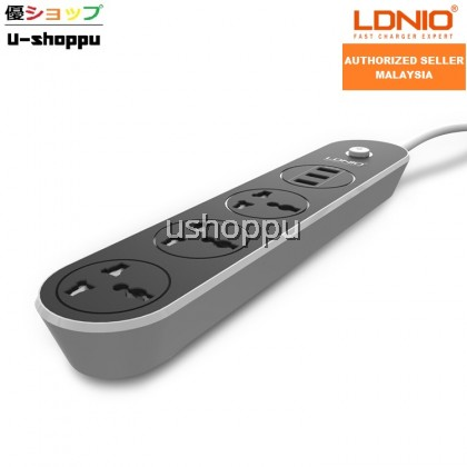 LDNIO SC3301 Power Strip 3 Universal Plug with 3 USB Output 3.1A & 1.6m UK Plug