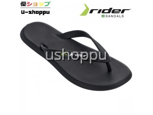 RIDER MEN'S R1 AD FLIP FLOPS (BLACK)