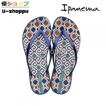 Ipanema Ladies Wave Print  Flip Flops Blue/Blue/Pink