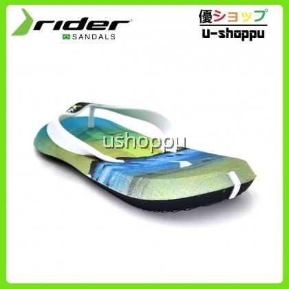 Rider Men's R1 Energy AD Flip Flops Black/White/Blue