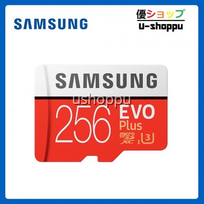 Samsung EVO PLUS 256GB Class 10 Micro SDHC Card with Adapter
