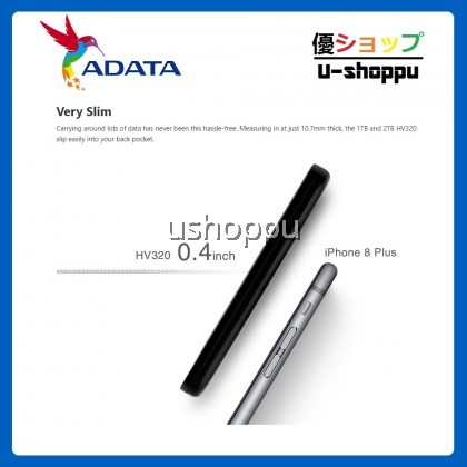 ADATA EXT HDD HV320 1TB (SLIMMER 10.7MM)
