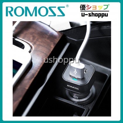 ROMOSS Quick Charge 3.0 Car Charger,36W QC 3.0 Ultra Slim Dual USB Ports Fast Charging Car Charger Adapter Compatible for iPhone X/8/8 Plus, iPad Pro 2017,Sumsung Galaxy Note 8/S9 and More