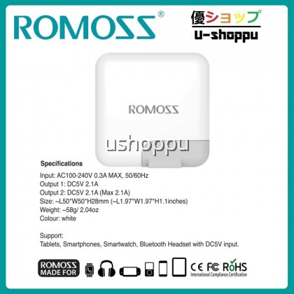 ROMOSS POWER ADAPTER ICHARGER 12S 12W (AC12S-401-07)