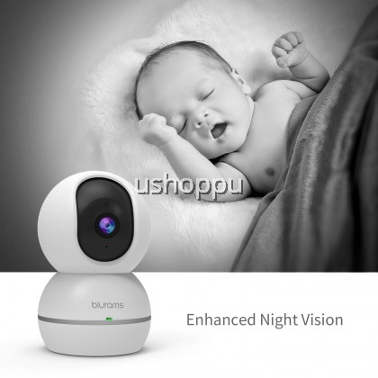 Blurams Snowman 1080P Two-way Audio IP Camera with Night Vision for Alexa