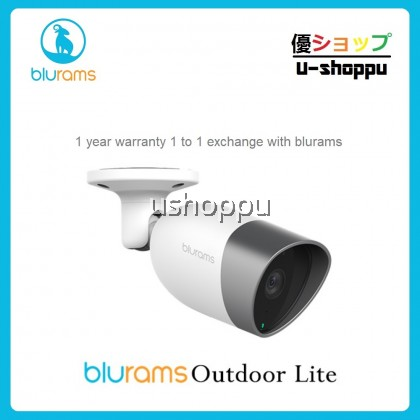 BLURAMS Outdoor Lite Two-way Audio IP Camera 1080P with Waterproof ip66 Night Vision for Alexa